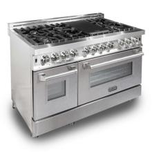 ZLINE 48 in. Professional Dual Fuel Range with Snow Finish Door (RA-SN-48)