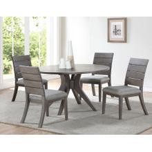 Elora 5 Piece Grey Round Set(Table & 4 Side Chairs)
