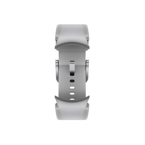 Samsung - Galaxy Watch4, Galaxy Watch4 Classic Hybrid Leather Band, S/M, Silver