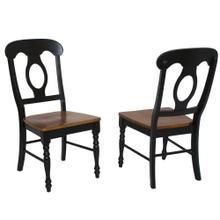 Napoleon Dining Chair - Antique Black & Cherry (1 Piece)