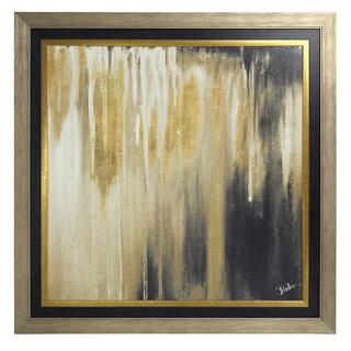 Gold Passage I Textured Print Custom Framed