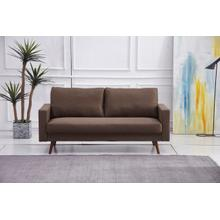 See Details - 8123 BROWN Linen Stationary Basic Sofa