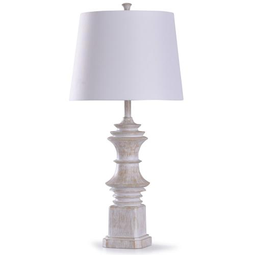 Caine Cream  33in Traditional Subtle Baluster Inspired Table Lamp  150W  3-Way