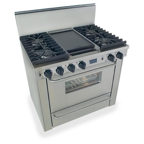 """Five Star - 36"""" All Gas, Convect, Sealed Burners, Stainless Steel"""