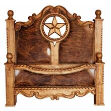 King Rope,Star & Cowhide Bed