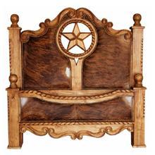 King Rope,Star & Cowhide Bed