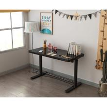 Hanover 23.2-In. Wide Black Sit or Stand Electric Desk with Adjustable and Programmable Heights, Storage Drawer, and Charging Ports, HSD0422-BLK