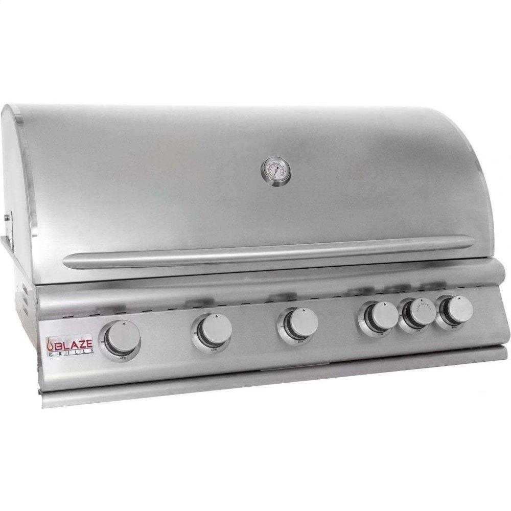 Blaze GrillsBlaze 40 Inch 5-Burner Gas Grill With Rear Burner, With Fuel Type - Propane