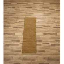 See Details - Tan Leather Chindi 2x6 Rug (Each One Will Vary)