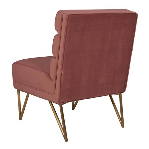 Kelly Slub Salmon Velvet Chair