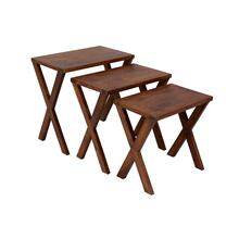 X-Table Chestnut Nesting Tables, 6255-N