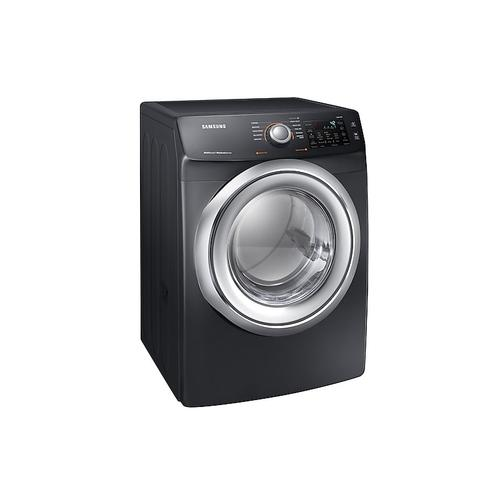 Samsung - 7.5 cu. ft. Gas Dryer with Steam in Black Stainless Steel