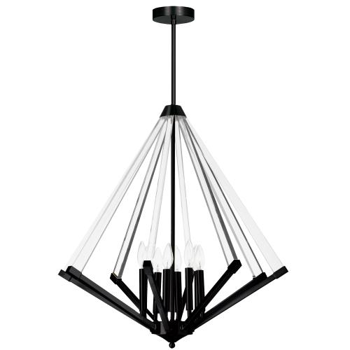 Product Image - 8lt Chandelier, Mb W/ Clear Acrylic
