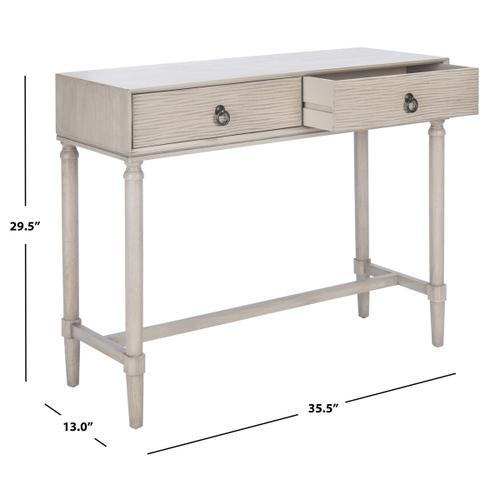 Safavieh - Aliyah 2 Drawer Console Table - Greige