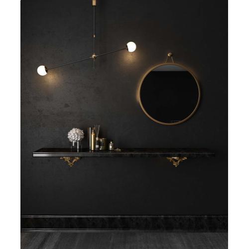 Tov Furniture - Rowan Brass Mirror