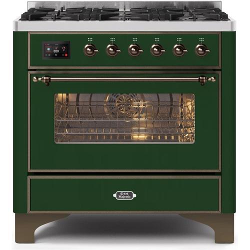 "36"" Inch Emerald Green Natural Gas Freestanding Range"