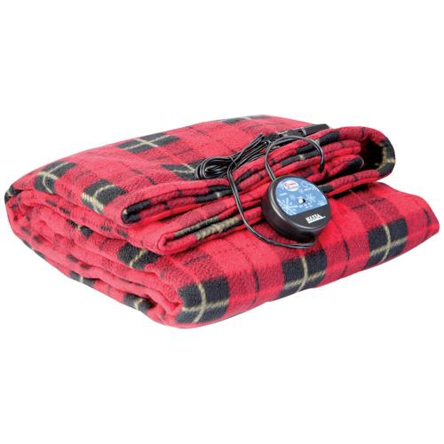Petra - Comfy Cruise® 12-Volt Heated Travel Blanket (Red Plaid)