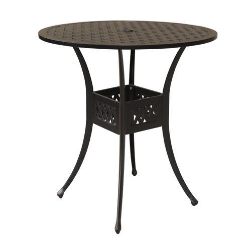 "Bonita Weave 42"" Round Die Cast Bar table"
