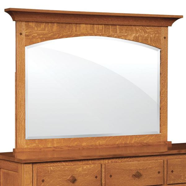 See Details - Royal Mission Mule Chest Mirror with Walnut Inlay