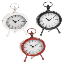 Distressed Oval Desk Clock (3 pc. ppk.)