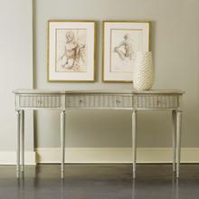 Ribbed Drawer Console-Antique Grey