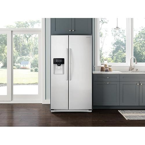 25 cu. ft. Side-by-Side Refrigerator with LED Lighting in White