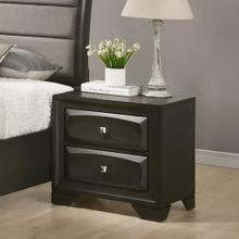 See Details - Oakland Antique Gray Finish Wood 2 Drawers Nightstand