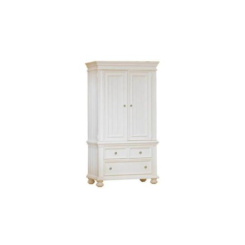 Product Image - Cape Cod Eggshell white Armoire