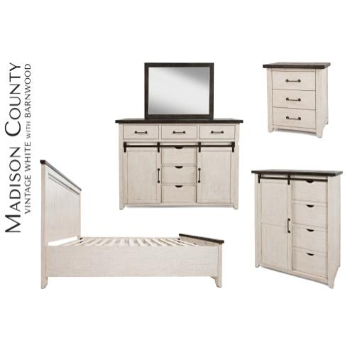 Madison County Door Chest - Vintage White
