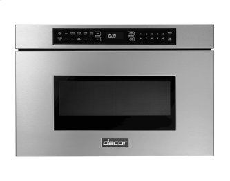 """24"""" Microwave-In-A-Drawer, Silver Stainless Steel"""