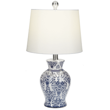 Blue & White Temple Jar Table Lamp. 60W Max.