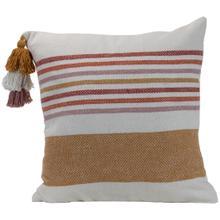 See Details - 18x18 Hand Woven Liz Pillow Gold