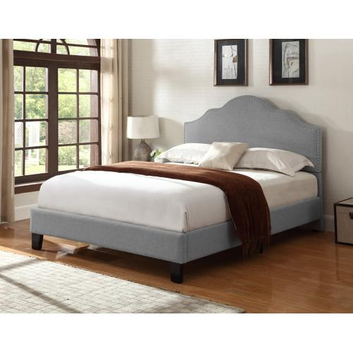Madison Cal King Upholstered Bed, Light Gray B131-13hbfbr-03