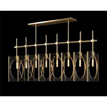 See Details - Genesis: Acrylic Eight-Light Pendant in Antique Brass