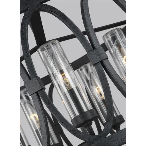Patrice Chandelier Dark Weathered Zinc