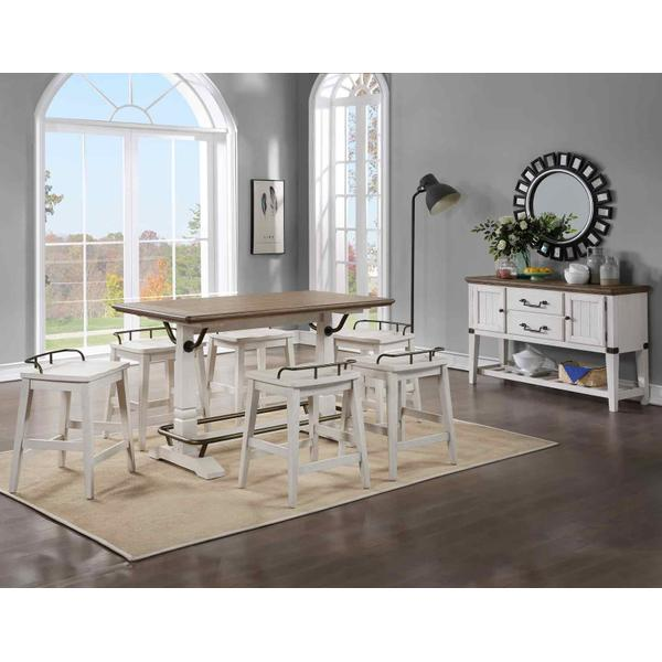 See Details - Pendleton 5-Piece Counter Dining Set (Counter Table & 4 Counter Stools)