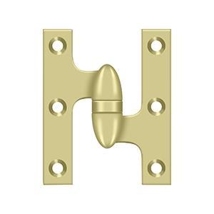 "Deltana - 3"" x 2-1/2"" Hinge - Unlacquered Brass"