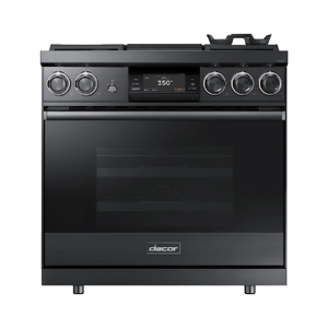 "Dacor36"" Pro Dual-Fuel Steam Range, Graphite Stainless Steel, Natural Gas"