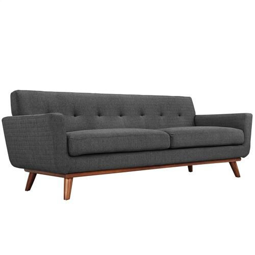 Modway - Engage Upholstered Fabric Sofa in Gray