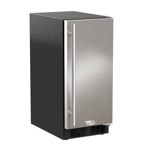 15-In Built-In Clear Ice Machine With Arctic White Illuminice with Door Style - Stainless Steel, Door Swing - Right, Pump - No