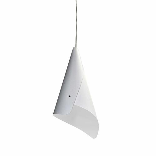 Product Image - 1lt Cone Pendant Jtones White, Polished Chrome
