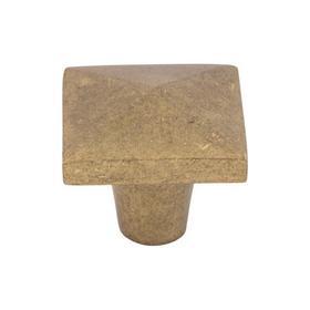 Aspen Square Knob 1 1/2 Inch Light Bronze