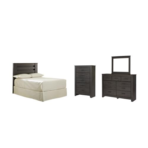 Ashley - Full Panel Headboard With Mirrored Dresser and Chest