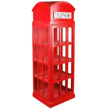 View Product - English Phone Booth Cabinet - Red