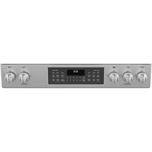 "GE® 30"" Slide-In Front Control Gas Double Oven Range Stainless Steel - JCGSS86SPSS"