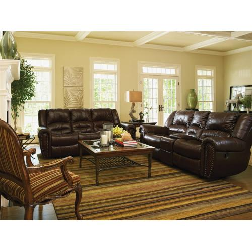 Product Image - Crosstown Leather Power Reclining Loveseat with Console