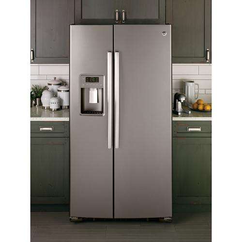 GE 23.2 Cu. Ft. Side-By-Side Refrigerator Slate - GSS23GMKES