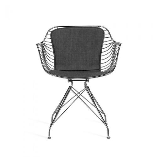 Draper Dining Chair - Gunmetal