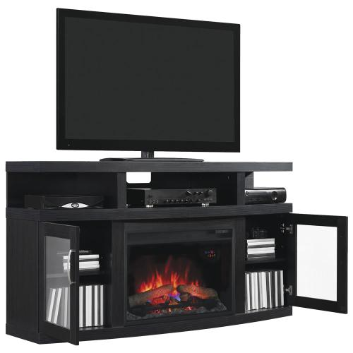 Cantilever TV Stand with Electric Fireplace - CURRENTLY SOLD OUT