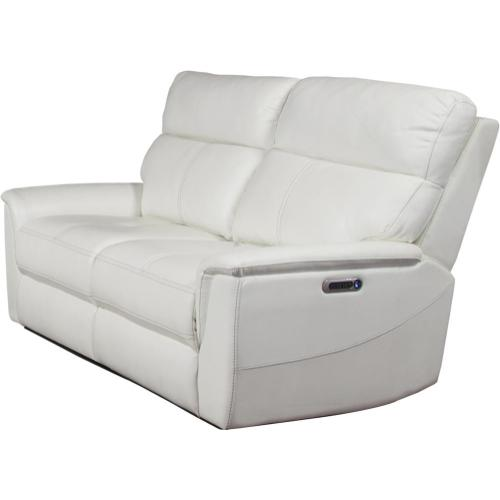 REED - PURE WHITE Power Loveseat